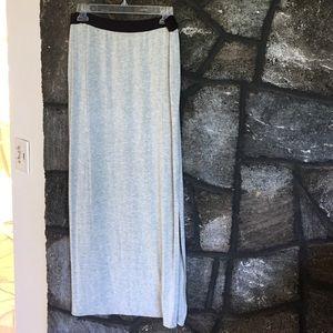 GAP BODY Maxi Skirt Heather Grey Lightweight Comfy